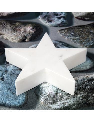 3Wdesign Yıldız Mermer Küçük Boy Obje Beyaz